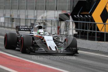 World © Octane Photographic Ltd. Formula 1 - Winter Test 1. Alfonso Celis - Sahara Force India VJM10. Circuit de Barcelona-Catalunya. Wednesday 1st March 2017. Digital Ref : 1782LB1D9709