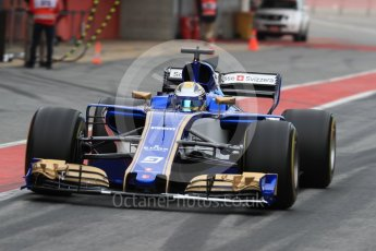 World © Octane Photographic Ltd. Formula 1 - Winter Test 1. Marcus Ericsson – Sauber F1 Team C36. Circuit de Barcelona-Catalunya. Wednesday 1st March 2017. Digital Ref : 1782LB1D9904