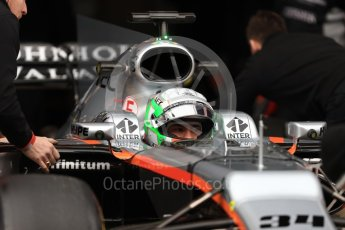 World © Octane Photographic Ltd. Formula 1 - Winter Test 1. Alfonso Celis - Sahara Force India VJM10. Circuit de Barcelona-Catalunya. Wednesday 1st March 2017. Digital Ref : 1782LB1D9973