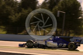 World © Octane Photographic Ltd. Formula 1 - Winter Test 1. Marcus Ericsson – Sauber F1 Team C36. Circuit de Barcelona-Catalunya. Wednesday 1st March 2017. Digital Ref :