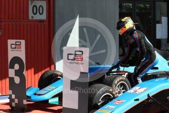 World © Octane Photographic Ltd. GP3 - Race 2. Allessio Lorando – Jenzer Motorsport. Circuit de Barcelona - Catalunya, Spain. Sunday 14th May 2017. Digital Ref:1821LB1D3031