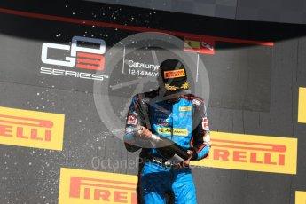World © Octane Photographic Ltd. GP3 - Race 2. Arjun Maini (1st) – Jenzer Motorsport. Circuit de Barcelona - Catalunya, Spain. Sunday 14th May 2017. Digital Ref:1821LB1D3213