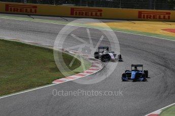 World © Octane Photographic Ltd. GP3 - Race 2. Arjun Maini – Jenzer Motorsport and Dorian Boccolacci – Trident. Circuit de Barcelona - Catalunya, Spain. Sunday 14th May 2017. Digital Ref:1821LB2D8682
