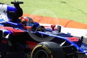 World © Octane Photographic Ltd. Formula 1 - Italian Grand Prix - Practice 2. Daniil Kvyat - Scuderia Toro Rosso STR12. Monza, Italy. Friday 1st September 2017. Digital Ref: 1939LB1D2369