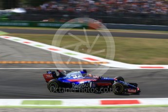 World © Octane Photographic Ltd. Formula 1 - Italian Grand Prix - Practice 2. Daniil Kvyat - Scuderia Toro Rosso STR12. Monza, Italy. Friday 1st September 2017. Digital Ref: 1939LB2D8190
