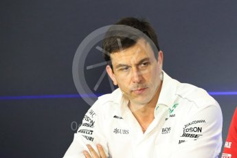 World © Octane Photographic Ltd. Formula 1 - Italian Grand Prix – Friday Team Press Conference – Part 1. Toto Wolff - Executive Director & Head of Mercedes-Benz Motorsport Monza, Italy. Friday 1st September 2017. Digital Ref: 1940LB1D2873