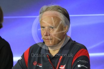 World © Octane Photographic Ltd. Formula 1 - Italian Grand Prix – Friday Team Press Conference – Part 2. Gene Haas - Founder and Chairman of Haas F1 Team. Monza, Italy. Friday 1st September 2017. Digital Ref: 1940LB1D2974