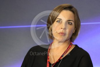 World © Octane Photographic Ltd. Formula 1 - Italian Grand Prix – Friday Team Press Conference – Part 2. Claire Williams - Deputy Team Principal of Williams Martini Racing. Monza, Italy. Friday 1st September 2017. Digital Ref: 1940LB1D2997