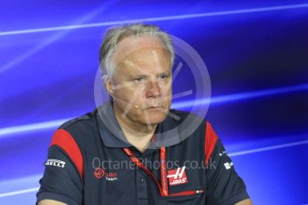 World © Octane Photographic Ltd. Formula 1 - Italian Grand Prix – Friday Team Press Conference – Part 2. Gene Haas - Founder and Chairman of Haas F1 Team. Monza, Italy. Friday 1st September 2017. Digital Ref: 1940LB1D3001