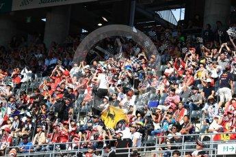 World © Octane Photographic Ltd. Formula 1 - Japanese Grand Prix - Sunday - Grid - Fans in the grandstand. Suzuka Circuit, Suzuka, Japan. Sunday 8th October 2017. Digital Ref:1979LB1D0192