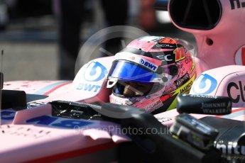 World © Octane Photographic Ltd. Formula 1 - Japanese Grand Prix - Sunday - Grid. Esteban Ocon - Sahara Force India VJM10. Suzuka Circuit, Suzuka, Japan. Sunday 8th October 2017. Digital Ref:1979LB1D0271