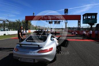 World © Octane Photographic Ltd. Formula 1 - Japanese Grand Prix - Sunday - Mercedes AMG GTs Safety Car on the grid. Suzuka Circuit, Suzuka, Japan. Sunday 8th October 2017. Digital Ref:1979LB2D5325
