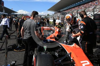 World © Octane Photographic Ltd. Formula 1 - Japanese Grand Prix - Sunday - Grid. Stoffel Vandoorne - McLaren Honda MCL32. Suzuka Circuit, Suzuka, Japan. Sunday 8th October 2017. Digital Ref: 1979LB2D5376