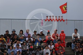 World © Octane Photographic Ltd. Formula 1 - Japanese Grand Prix - Saturday - Qualifying. Ferrari fans. Suzuka Circuit, Suzuka, Japan. Saturday 7th October 2017. Digital Ref:1977LB1D9548