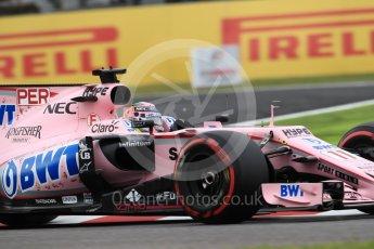 World © Octane Photographic Ltd. Formula 1 - Japanese Grand Prix - Saturday - Qualifying. Sergio Perez - Sahara Force India VJM10. Suzuka Circuit, Suzuka, Japan. Saturday 7th October 2017. Digital Ref:1977LB1D9599
