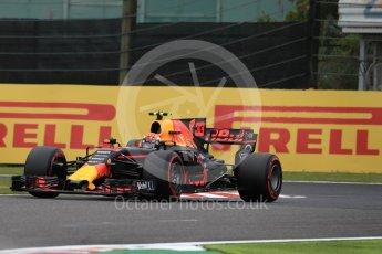 World © Octane Photographic Ltd. Formula 1 - Japanese Grand Prix - Saturday - Qualifying. Max Verstappen - Red Bull Racing RB13. Suzuka Circuit, Suzuka, Japan. Saturday 7th October 2017. Digital Ref:1977LB1D9658