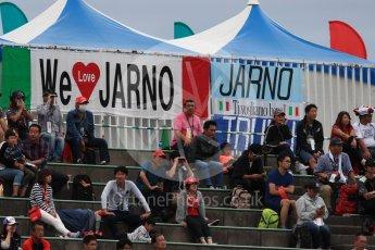 World © Octane Photographic Ltd. Formula 1 - Japanese Grand Prix - Saturday - Qualifying. Jarno Trulli fans STILL turning up! Suzuka Circuit, Suzuka, Japan. Saturday 7th October 2017. Digital Ref:1977LB1D9760