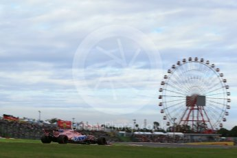 World © Octane Photographic Ltd. Formula 1 - Japanese Grand Prix - Saturday - Qualifying. Sergio Perez - Sahara Force India VJM10. Suzuka Circuit, Suzuka, Japan. Saturday 7th October 2017. Digital Ref:1977LB2D4586