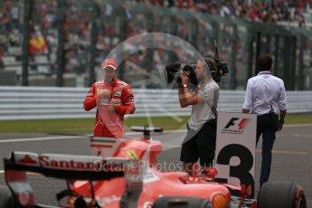 World © Octane Photographic Ltd. Formula 1 - Japanese Grand Prix - Saturday - Qualifying. Sebastian Vettel - Scuderia Ferrari SF70H on track to be interviewed. Suzuka Circuit, Suzuka, Japan. Saturday 7th October 2017. Digital Ref:1977LB2D5139