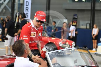 World © Octane Photographic Ltd. Formula 1 - Singapore Grand Prix - Drivers' parade. Kimi Raikkonen - Scuderia Ferrari SF70H. Marina Bay Street Circuit, Singapore. Sunday 17th September 2017. Digital Ref: