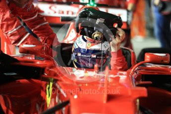 World © Octane Photographic Ltd. Formula 1 - Singapore Grand Prix - Paddock. Kimi Raikkonen - Scuderia Ferrari SF70H. Marina Bay Street Circuit, Singapore. Sunday 17th September 2017. Digital Ref: