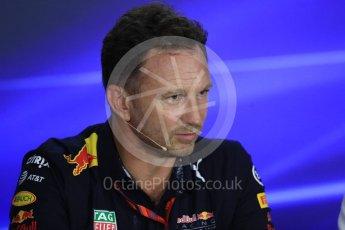 World © Octane Photographic Ltd. Formula 1 - Singapore Grand Prix – Friday Team Press Conference – Part 2. Christian Horner - Team Principal of Red Bull Racing.. Marina Bay Street Circuit, Singapore. Saturday 2nd September 2017. Digital Ref:1960LB1D0650