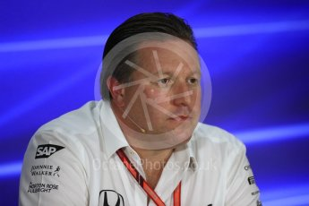 World © Octane Photographic Ltd. Formula 1 - Singapore Grand Prix – Friday Team Press Conference – Part 2. Zak Brown - Executive Director of McLaren Technology Group. Marina Bay Street Circuit, Singapore. Saturday 2nd September 2017. Digital Ref:1960LB1D0670