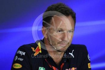 World © Octane Photographic Ltd. Formula 1 - Singapore Grand Prix – Friday Team Press Conference – Part 2. Christian Horner - Team Principal of Red Bull Racing.. Marina Bay Street Circuit, Singapore. Saturday 2nd September 2017. Digital Ref:1960LB1D0678