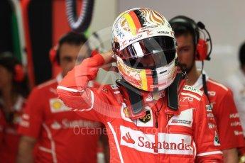 World © Octane Photographic Ltd. Formula 1 - Singapore Grand Prix - Practice 3. Sebastian Vettel - Scuderia Ferrari SF70H. Marina Bay Street Circuit, Singapore. Saturday 16th September 2017. Digital Ref:1962LB1D1213