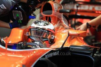 World © Octane Photographic Ltd. Formula 1 - Singapore Grand Prix - Practice 3. Stoffel Vandoorne - McLaren Honda MCL32. Marina Bay Street Circuit, Singapore. Saturday 16th September 2017. Digital Ref:1962LB1D1556