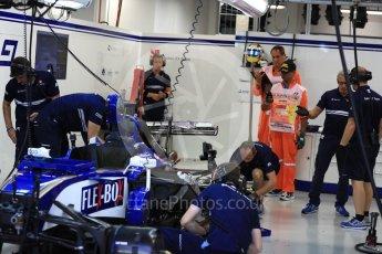 World © Octane Photographic Ltd. Formula 1 - Singapore Grand Prix - Practice 3. Marcus Ericsson – Sauber F1 Team C36. Marina Bay Street Circuit, Singapore. Saturday 16th September 2017. Digital Ref:1962LB1D1770