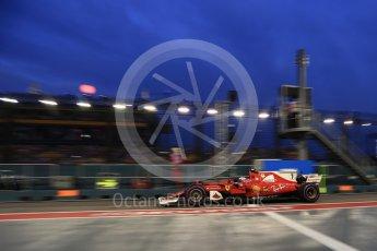 World © Octane Photographic Ltd. Formula 1 - Singapore Grand Prix - Practice 3. Kimi Raikkonen - Scuderia Ferrari SF70H. Marina Bay Street Circuit, Singapore. Saturday 16th September 2017. Digital Ref:1962LB2D1935