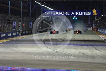 World © Octane Photographic Ltd. Formula 1 - Singapore Grand Prix - Green flag lap. Marina Bay Street Circuit, Singapore. Sunday 17th September 2017. Digital Ref: