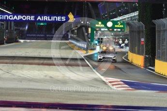 World © Octane Photographic Ltd. Formula 1 - Singapore Grand Prix - Race. Safety Car (Mercedes AMG GTs) deploys after 1st corner incident. Marina Bay Street Circuit, Singapore. Sunday 17th September 2017. Digital Ref: