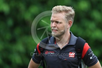 World © Octane Photographic Ltd. Formula 1 - Singapore Grand Prix - Paddock. Kevin Magnussen - Haas F1 Team VF-17. Marina Bay Street Circuit, Singapore. Saturday 16th September 2017. Digital Ref:1961LB1D1032