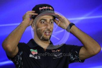 World © Octane Photographic Ltd. Formula 1 - Singapore Grand Prix – Thursday Driver Press Conference – Part 2. Daniel Ricciardo - Red Bull Racing. Marina Bay Street Circuit, Singapore. Thursday 14th September 2017. Digital Ref: 1956LB1D7649