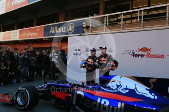 World © Octane Photographic Ltd. Scuderia Toro Rosso STR12 launch, Circuit de Barcelona-Catalunya. Sunday 26th February 2017. Digital Ref :1777LB5D7487