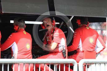 World © Octane Photographic Ltd. Formula 1 – Italian GP -Practice 3. Jock Clear – Chief Engineer - Scuderia Ferrari. Autodromo Nazionale di Monza, Monza, Italy. Saturday 1st September 2018.