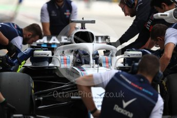 World © Octane Photographic Ltd. Formula 1 – Italian GP -Practice 3. Williams Martini Racing FW41 – Lance Stroll. Autodromo Nazionale di Monza, Monza, Italy. Saturday 1st September 2018.