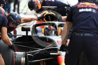World © Octane Photographic Ltd. Formula 1 – Italian GP -Practice 3. Aston Martin Red Bull Racing TAG Heuer RB14 – Daniel Ricciardo. Autodromo Nazionale di Monza, Monza, Italy. Saturday 1st September 2018.