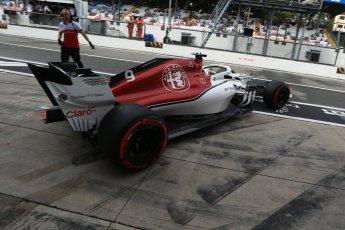 World © Octane Photographic Ltd. Formula 1 – Italian GP -Practice 3. Alfa Romeo Sauber F1 Team C37 – Marcus Ericsson. Autodromo Nazionale di Monza, Monza, Italy. Saturday 1st September 2018.
