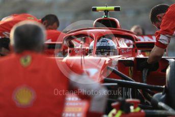 World © Octane Photographic Ltd. Formula 1 – Abu Dhabi GP - Grid. Scuderia Ferrari SF71-H – Kimi Raikkonen. Yas Marina Circuit, Abu Dhabi. Sunday 25th November 2018.