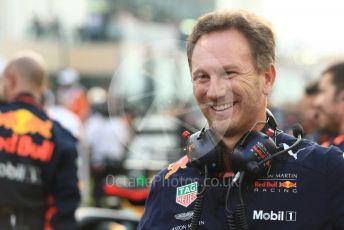 World © Octane Photographic Ltd. Formula 1 - Abu Dhabi GP - Grid. Christian Horner - Team Principal of Red Bull Racing. Yas Marina Circuit, Abu Dhabi. Sunday 25th November 2018.