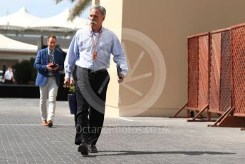 World © Octane Photographic Ltd. Formula 1 - Abu Dhabi GP - Paddock. Chase Carey - Chief Executive Officer of the Formula One Group. Yas Marina Circuit, Abu Dhabi. Saturday 24th November 2018.
