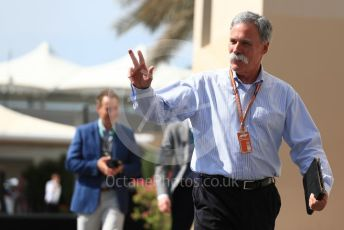 World © Octane Photographic Ltd. Formula 1 - Abu Dhabi GP - Paddock. Chase Carey - Chief Executive Officer of the Formula One Group. Yas Marina Circuit, Abu Dhabi. Saturday 24th November 2018.