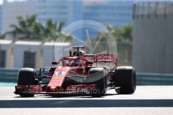 World © Octane Photographic Ltd. Formula 1 – Abu Dhabi GP - Practice 1. Scuderia Ferrari SF71-H – Sebastian Vettel. Yas Marina Circuit, Abu Dhabi. Friday 23rd November 2018.