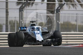 World © Octane Photographic Ltd. Formula 1 –  Abu Dhabi GP - Practice 1. Williams Martini Racing FW41 – Lance Stroll. Yas Marina Circuit, Abu Dhabi. Friday 23rd November 2018.