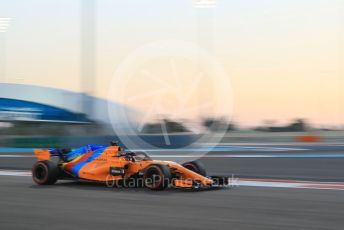 World © Octane Photographic Ltd. Formula 1 –  Abu Dhabi GP - Practice 2. McLaren MCL33 – Fernando Alonso. Yas Marina Circuit, Abu Dhabi. Friday 23rd November 2018.