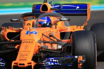 World © Octane Photographic Ltd. Formula 1 –  Abu Dhabi GP - Practice 3. McLaren MCL33 – Fernando Alonso. Yas Marina Circuit, Abu Dhabi. Saturday 24th November 2018.