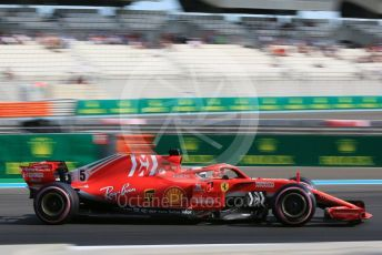 World © Octane Photographic Ltd. Formula 1 –  Abu Dhabi GP - Practice 3. Scuderia Ferrari SF71-H – Sebastian Vettel. Yas Marina Circuit, Abu Dhabi. Saturday 24th November 2018.